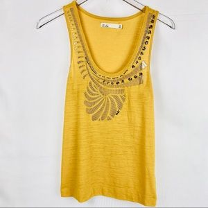 MADEWELL Hi-Line Sequence Embroidered Tank Top.